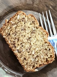 Banana Coconut Bread Slice