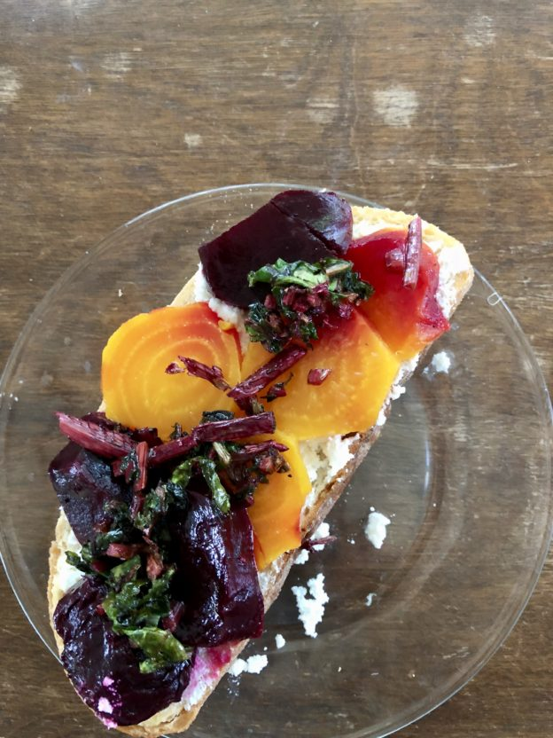 Toast with Beets and Ricotta