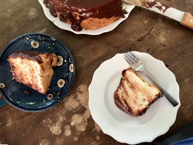 Slices of Angel Food Cake