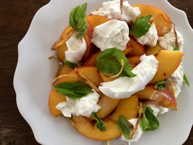 Peach and Mozzarella Salad